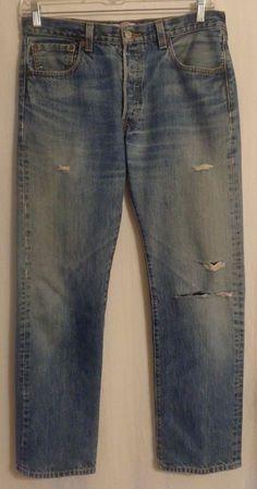 a17945cf men's Levi's 501 Button Fly Straight Leg 5 Pocket Jeans size 34x32 #fashion  #clothing