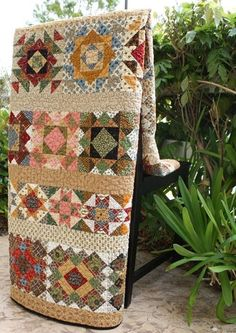 Love this row quilt.