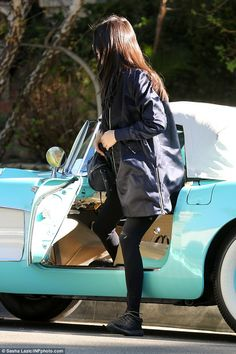 Kendall Jenner takes her $100K classic car for a spin as she recalls first kiss | Daily Mail Online