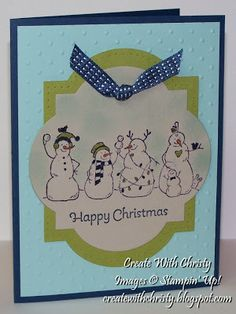 Stampin' Up! Frosty Friends Christmas Card, Christy Fulk, SU! Demo