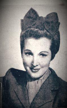 Turban head Tie 1940s by VintageKnitsWithKit on Etsy, £1.49