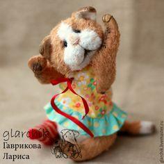 Купить Кошечка Амоси - бежевый, белый, рыжий, кошка, кошечка, кот, котенок, рвжий кот