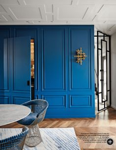 MadAbout Interiors- Blue wall