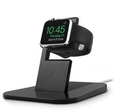 HiRise for Apple Watch is an elegant, modern stand that showcases your beautiful new timepiece while you charge it overnight. The sturdy HiRise holds any Apple Watch at a stable height and angle that lets you interact with your watch while it's charging. It only takes a moment to insert (or remove) your Magnetic Charging Cable, and it can be used with any style Apple Watch band, including closed-loop metal bands. Thoughtful silicone accents and a leather landing pad protect your watch…