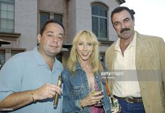Stan Shuster, Jilly Mack & Tom Selleck during 8th Anniversary of the Grand Havana Room and the Premiere of James Orr's Documentaries on the Fuente Family - Inside at Grand Havana Room in Beverly Hills, California, United States.