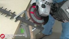 How to sharpen your hedge trimmer blade.