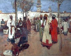 The Slave Market- Frank Brangwyn (1867–1956)  Atkinson Art Gallery Collection