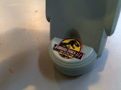 Unreleased Jurassic Park 3 toy featuring early logo. #JurassicPark3 #toy Jurassic Park 3 Toys, Logo, Jurassic Park, Parks, Logos, Environmental Print