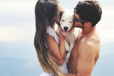 i don't even like dogs that much but this is love:) Love Is In The Air, This Is Love, All You Need Is Love, Foto Fantasy, Photo Couple, Couple Pictures, Pet Pictures, Pet Photos, Mans Best Friend