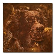 Red Barrel Studio Zeitgeist Setter Painting Print on Wrapped Canvas Size:
