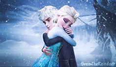 Jelsa - Hug by Sven-TheReindeer on DeviantArt