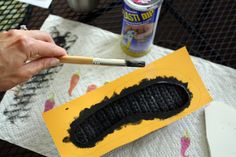 No-Slip Slippers a tutorial and alternative to using puff paint.