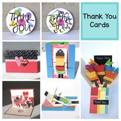 The theme of the card I need most often is thank you. And if you got lots of presents this holiday, you most likely need thank you cards too. So here are a few of my favorite thank you cards you may want to try. #diycards #thankyoucards