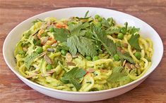 Spiralizer recipe: courgette noodles with minted avocado sauce - Telegraph