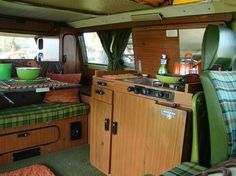This is so similar to the interior to my old VW camper van. LOVE!