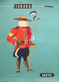size: Giclee Print: Canada - Royal Canadian Mounted Police by Harry Rogers : This exceptional art print was made using a sophisticated giclée printing process, which deliver pure, rich color and remarkable detail. Old Poster, Poster Ads, Advertising Poster, Art Posters, Travel Ads, Airline Travel, Travel Photos, Vintage Advertisements, Vintage Ads