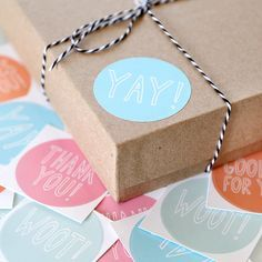 cute packaging ideas | Cute Packaging Stickers. Pastel Thank You Stickers. seen on paper ...
