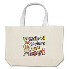 Preschool Teachers Have Heart Canvas Bags