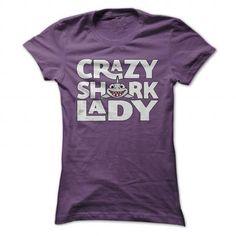 Crazy Shark Lady Great Funny Shirt - #dress shirt #design shirt. TAKE IT => https://www.sunfrog.com/Funny/Crazy-Shark-Lady-Great-Funny-Shirt-Purple-30400274-Ladies.html?id=60505