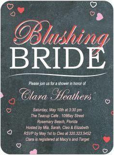 1f4cf4f0e322 Sweetheart Blackboard Bridal Shower Invitation Card HPB121  HPB121