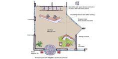 Plattegrondschets CAE. BOP architecten | entreehal CAE | Hoofddorp