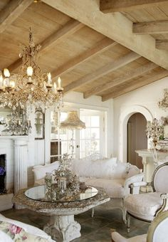 Incredible French Country Living Room Decorating Ideas (43)