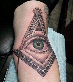 All Seeing Eye Male Masonic Tattoo Design On Arm Fake Tattoos, Forearm Tattoos, Sleeve Tattoos, Tattoos For Guys, Freemason Tattoo, Masonic Tattoos, Eye Tattoo On Arm, All Seeing Eye Tattoo, Sword Tattoo