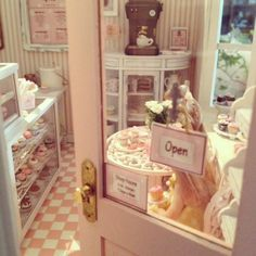 Open........ 1:12 scale cupcake shop by Kim Saulter