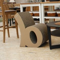 cardboard chair for type lovers