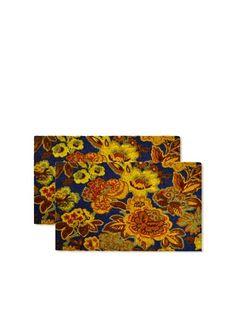Raymond Waites Set of 2 Aprilia Coir Doormats, Blue,