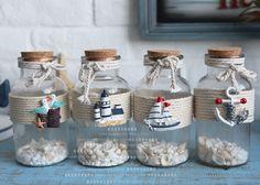 Друфтующие бутылки средиземноморье стиль домой декоративный стеклянные бутылки украшение декоративный друфтующие бутылки - TAOinMD.com