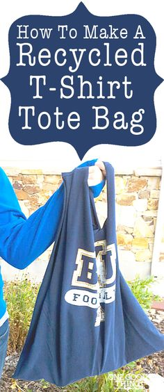 How To Make a Recycled T-Shirt Tote Bag