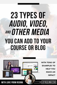 An amazing resource with ideas for 23 types of audio, video, and other media you can add to your online course or blog to help it stand out and attract students to your course.