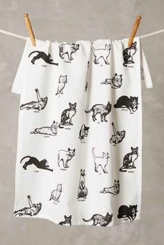 Cat Dishtowels: Would be adorable in the MHC kitchens #HREDreamRoom