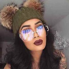 Oversized Square Rimless Vintage Retro Clear Lens Gold Silver Sunglasses Glasses in Clothing, Shoes & Accessories, Women's Accessories, Sunglasses & Fashion Eyewear Piercings, Gold Sunglasses, Sunglasses Women, Lunette Style, Hippie Man, Cute Glasses, Fashion Eye Glasses, Gold Fashion, Latest Fashion For Women