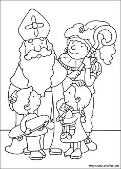 Coloriage de la tournée de Saint Nicolas