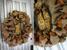 DIY burlap wreath tutorial...like the folds of this one