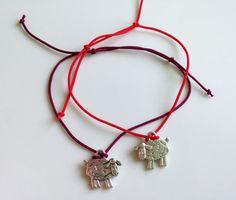 Red String Kabbalah Bracelets Silver Sheep by BannerDesignShop