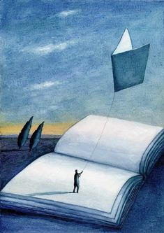 Illustrations about books - Mariusz Stawarski - A quote Where To Buy Posters, Book Art, Art Minimaliste, Cartoon Books, Reading Art, Dream Book, What Book, World Of Books, Book Images