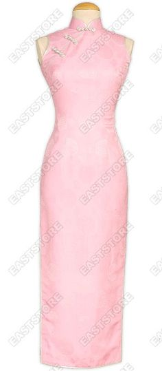 A chic cheongsam especially for you!This beautiful Pink Happiness Icon Silk Cheongsam is made of...