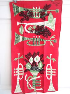 Vintage CHRISTMAS Towel Tammis Keefe by NeatoKeen on Etsy