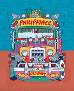 Old Navy Poster — Lydia Ortiz Filipino Art, Filipino Culture, Philippines Culture, Philippines Travel, Manila Philippines, Paskong Pinoy, Turtle Book, Philippine Art, Jeepney