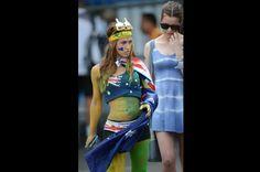 Los espectadores del abierto de Australia también fueron protagonistas con sus peculiares trajes