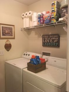Check out how I organized my laundry room! http://www.couponwithcents.com/showthread.php?t=1780&p=2559#post2559