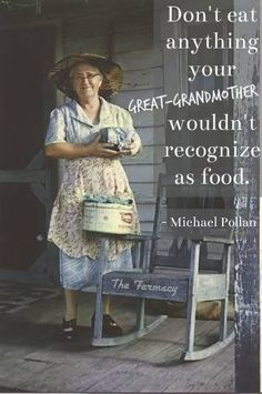 Michael Pollen words of wisdom from In Defense of Food. #eatrealfood