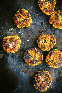 my darling lemon thyme: roasted pumpkin, millet + herb patties
