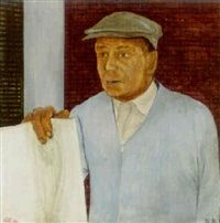 Newspaper man by Saul Levine