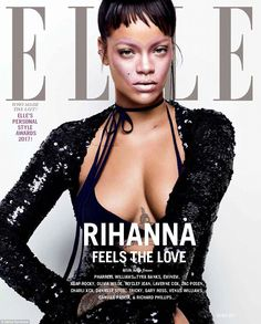 Rihanna for Elle Magazine – Featuring Fenty Beauty. Best Of Rihanna, Rihanna Cover, Rihanna Style, Pin Up, Rihanna Hairstyles, Fashion Magazine Cover, Magazine Covers, Plus Tv, Hollywood Gossip