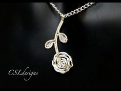 Rose wirework pendant ⎮ Valentines - YouTube