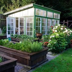 Best Home Decorating Magazine Info: 2488487670 Backyard Greenhouse, Greenhouse Plans, Dream Garden, Home And Garden, Weekend House, Garden Deco, Green Rooms, Garden Boxes, Shade Garden